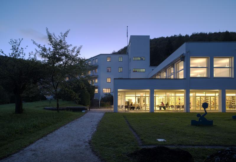 House on the Alb, Bad Urach: exterior view foyer