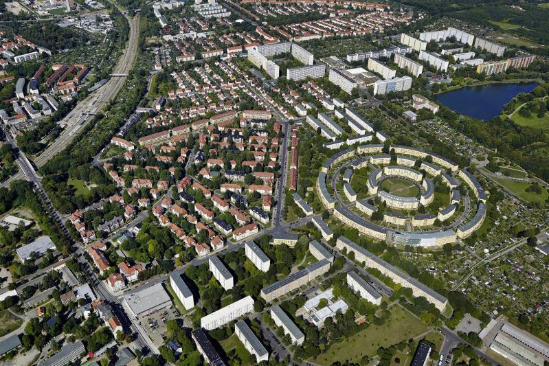 Rundling Housing Estate, Leipzig: aerial photograph
