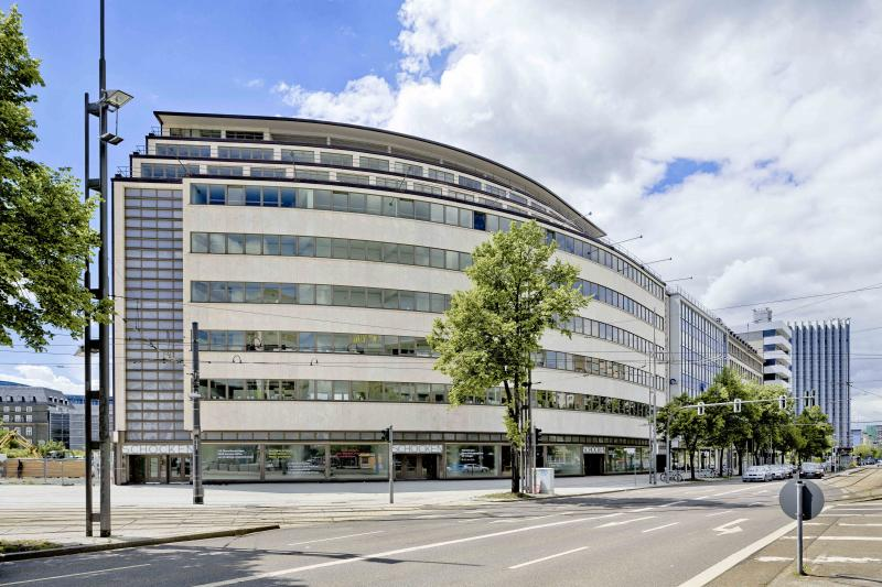Former Schocken department store, Chemnitz: exterior view at day