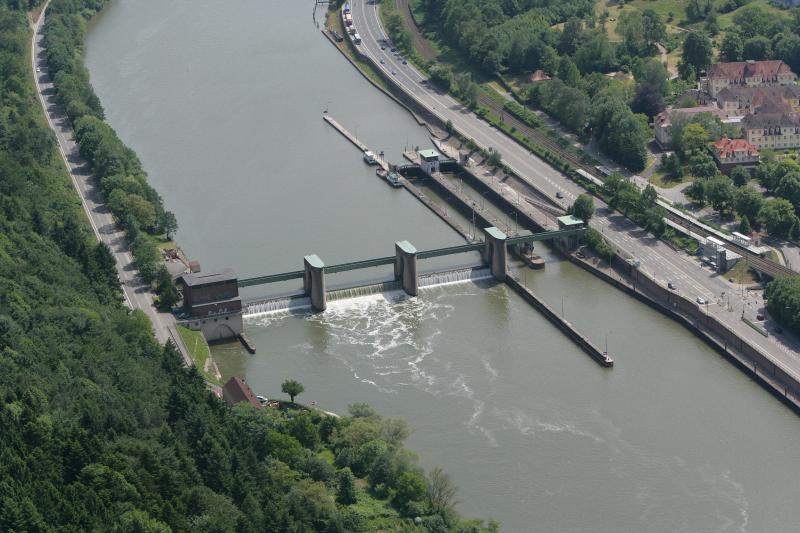 Neckarstaustufe Neckargemünd