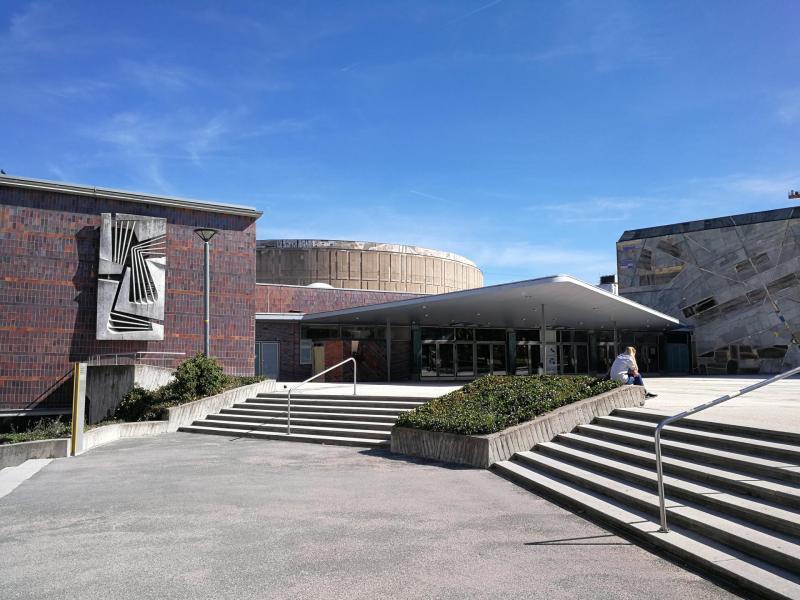 Liederhalle, Stuttgart (Baden-Württemberg), Architekten: Adolf Abel und Rolf Gutbrod, 1955-56.