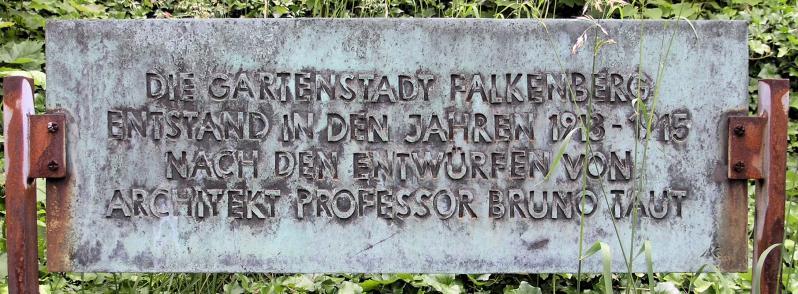 Gartenstadt Falkenberg, Berlin: Gedenktafel