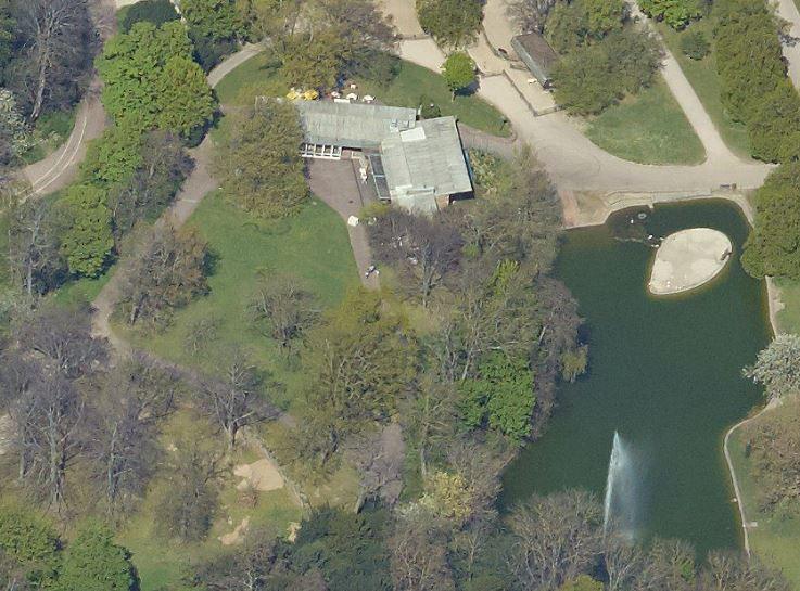 Milchbar Killesberg, Stuttgart: aerial photograph