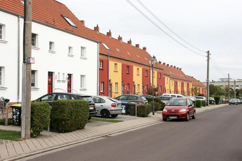 Straße zur Siedlung Reform, Westseite.