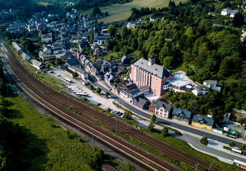 Haus des Volkes, Probstzella, Luftaufnahme