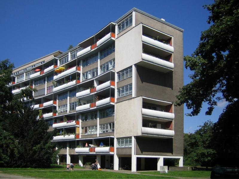 Hansaviertel (Interbau 57), Bau von Walter Gropius, Berlin, 1956–57.