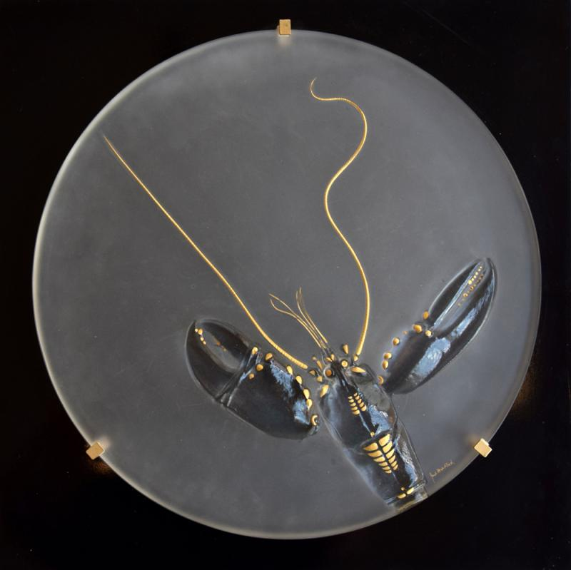 Glassworks, Amberg: Annual object in glass 'Hummer' 1983, Design: Paul Wunderlich.