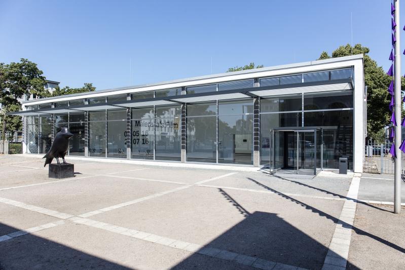 Kunsthalle Darmstadt, Südfassade zur Rheinstraße, Darmstadt (Hessen), Architekt: Theo Pabs, 1956-57.