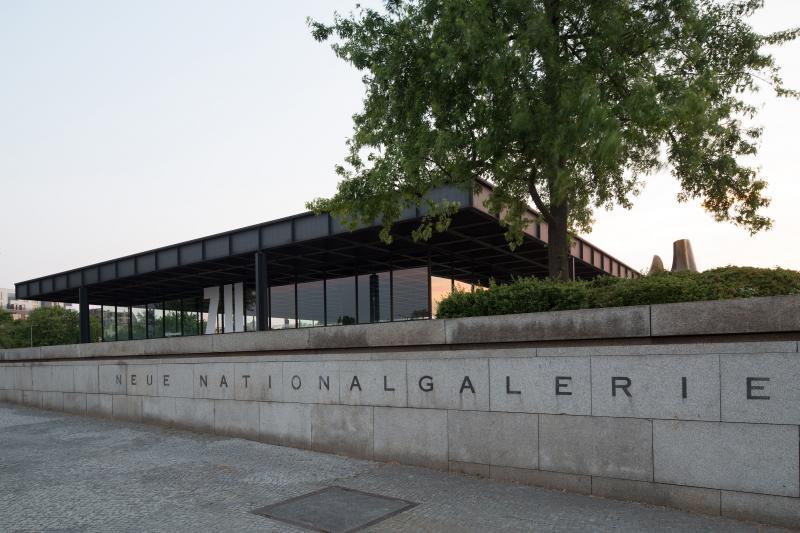 Neue Nationalgalerie, Kulturforum, Berlin-Tiergarten, Potsdamer Straße 50.