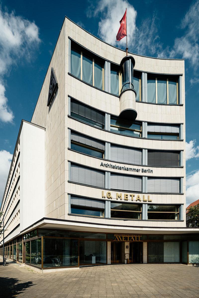 Haus des Deutschen Metallarbeiter-Verbandes (1929-1930), Architekt: Erich Mendelsohn