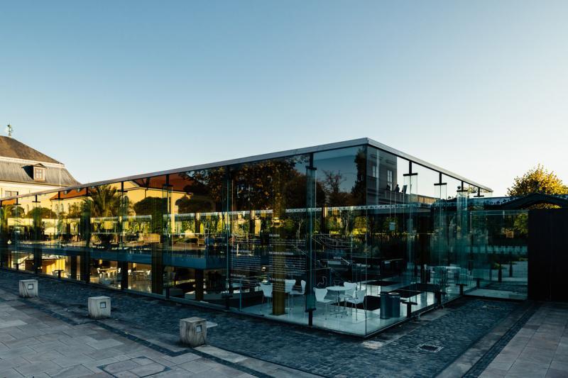 Glasfoyer Großer Garten (1965-66), Architekt: Prof. Arne Jacobsen