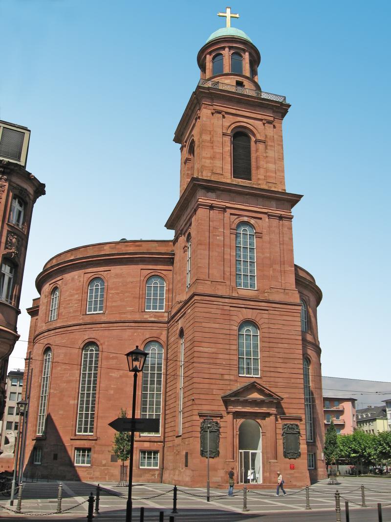 Frankfurt am Main, Paulskirche: Als Sitz der ersten deutschen Nationalversammlung (1848/49) ist sie das Symbol der deutschen Demokratie.