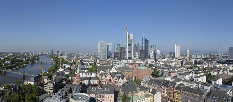 Frankfurt am Main, Stadtansicht mit Paulskirche