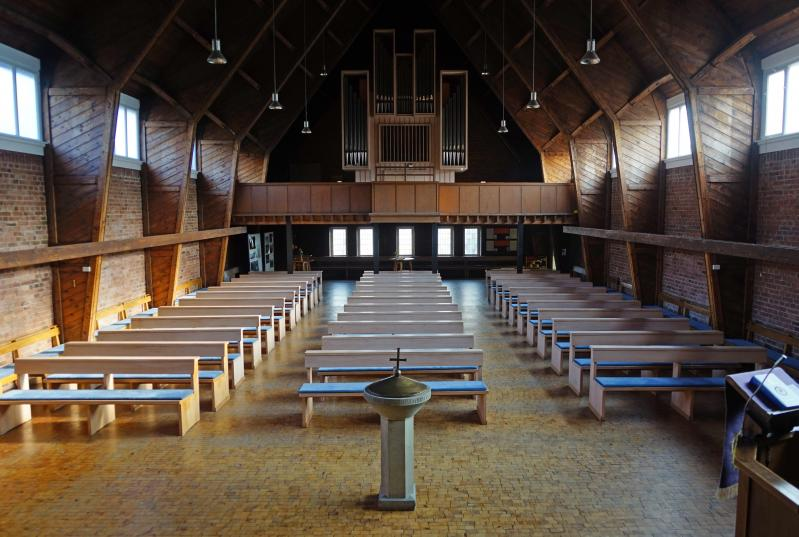 Mainz, Evangelische Luthergemeinde, Innenansicht der Kirche