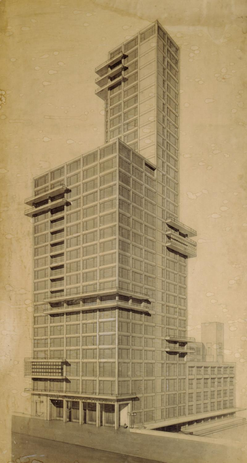 Chicago Tribune, Draft: Walter Gropius and Adolf Meyer, 1922.
