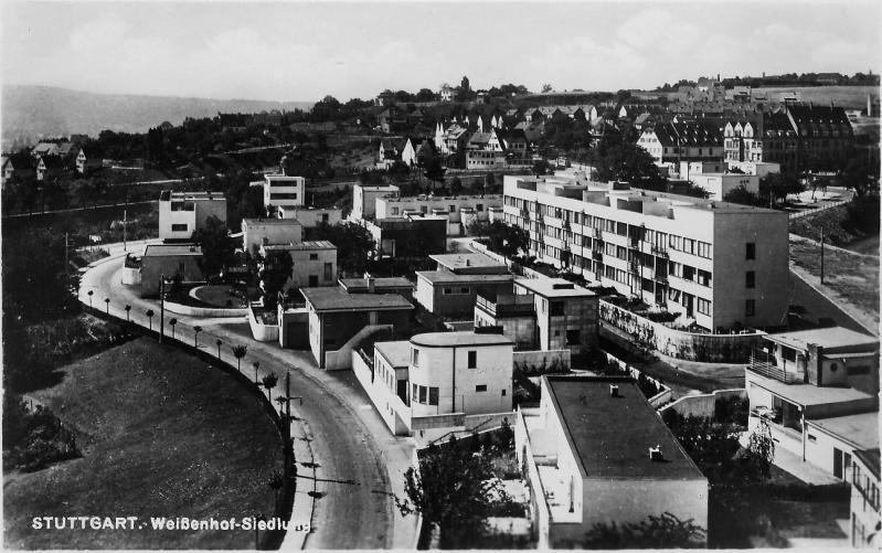 Weißenhofsiedlung, overall planning: Ludwig Mies van der Rohe, Photo: unknown, 1925–1927.