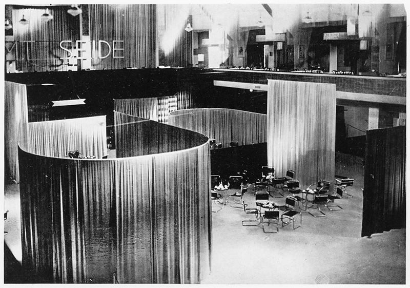 Velvet & Silk Cafe, Berlin, Design: Lilly Reich and Ludwig Mies van der Rohe, 1927.