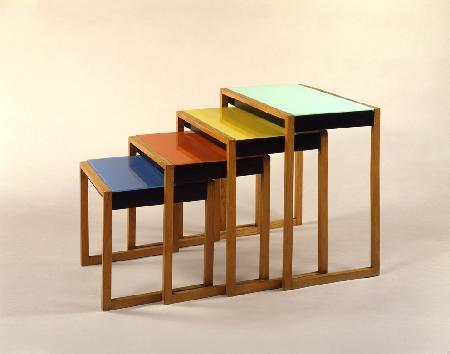 Stacking Tables, design: Josef Albers, 1926.