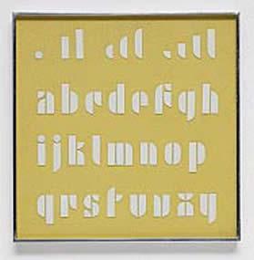 Lettering Set, author: Josef Albers, around 1928.