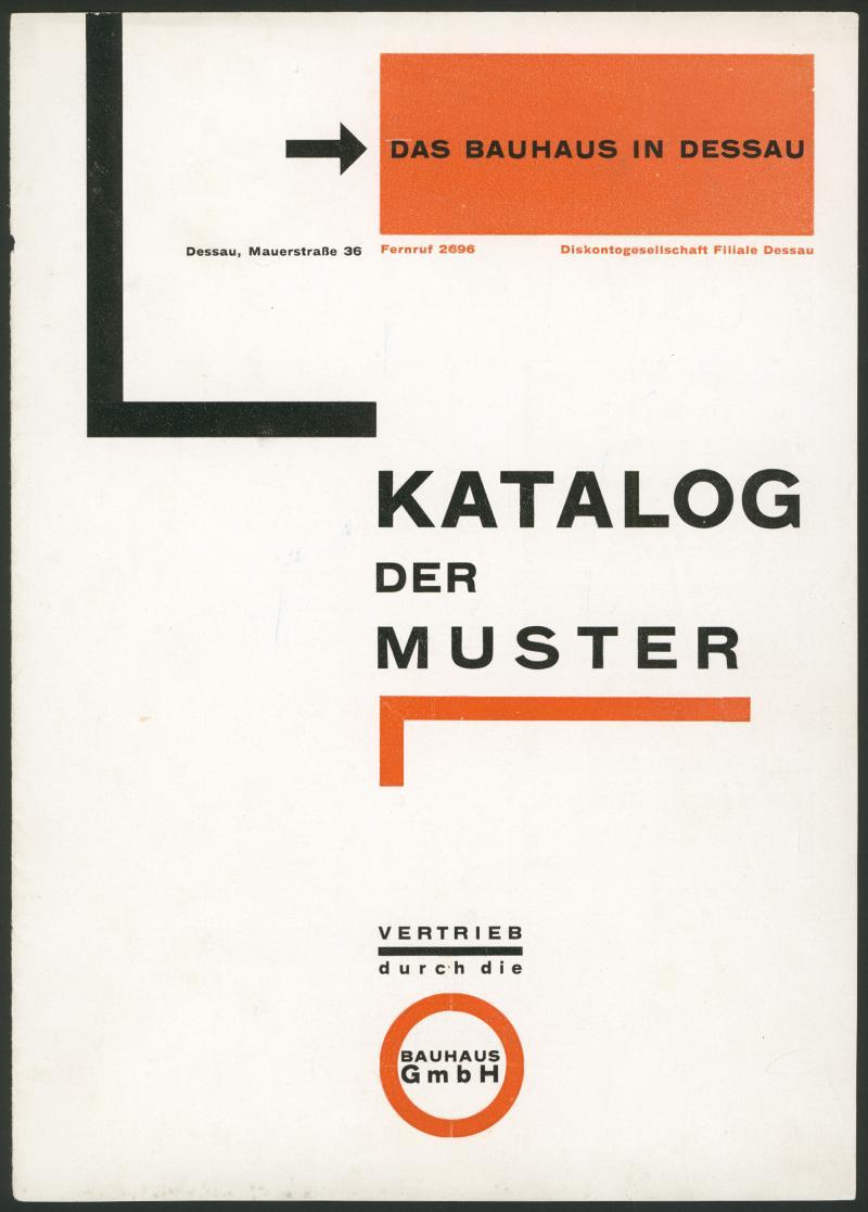 Katalog der Muster, Titelblatt, Autor: Herbert Bayer, 1925.