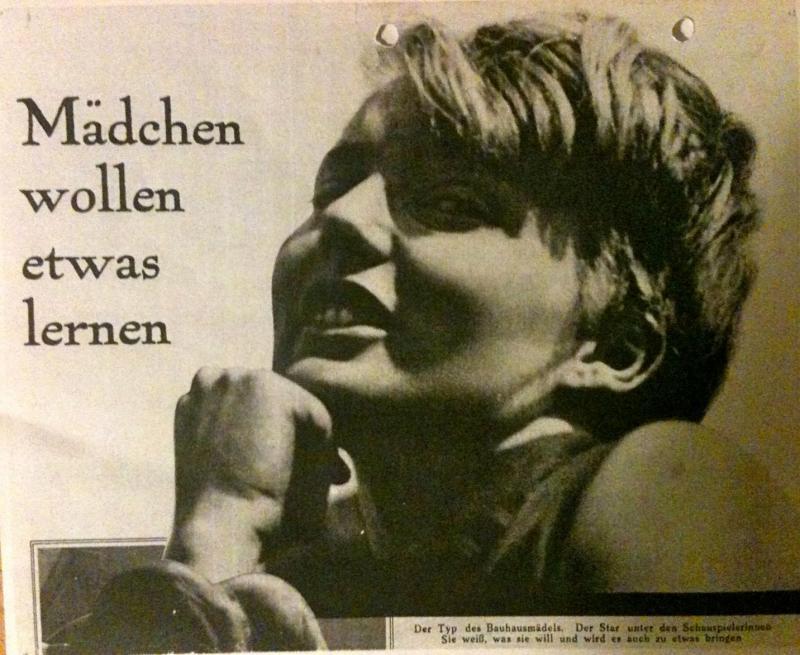 """""""Mädchen wollen etwas lernen"""", in: Die Woche, 4. April 1930, S. 30–33 (keine Autorenangabe)."""