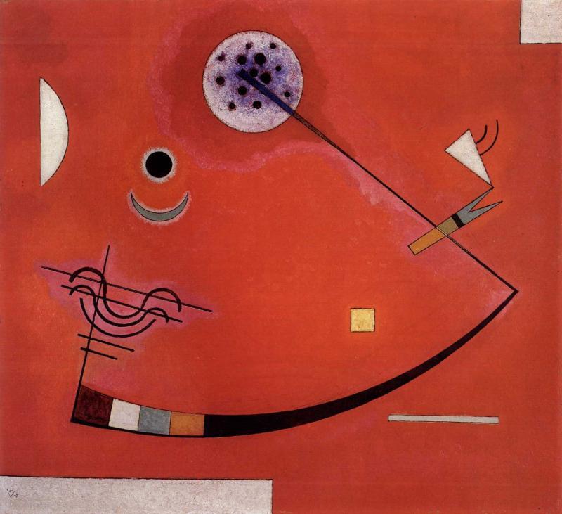 Wassily Kandinsky, Gespannt im Winkel, 1930.