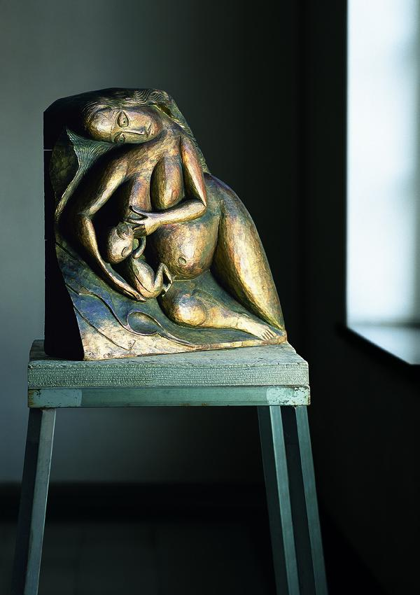 Woman with Infant, Author: Gerhard Marcks, 1919.