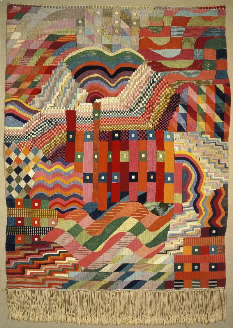 Slit Tapestry Red-Green, Author: Gunta Stölzl, 1927/28.