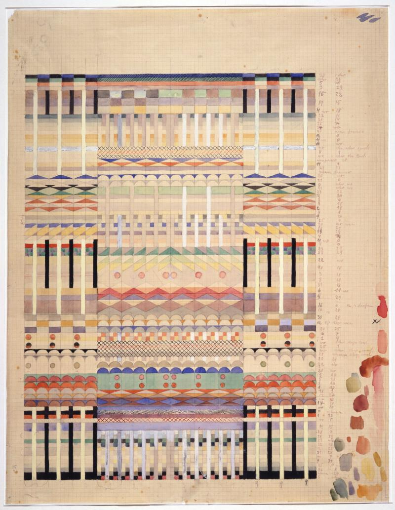 Draft for 'Five choirs', Author: Gunta Stölzl, 1928.