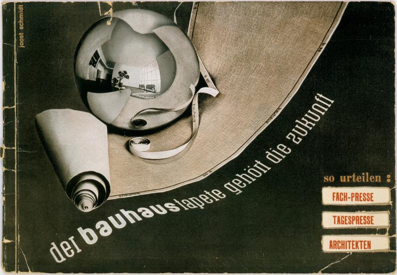 Advertising brochure 'der bauhaustapete gehört die zukunft', Design: Joost Schmidt, 1931.