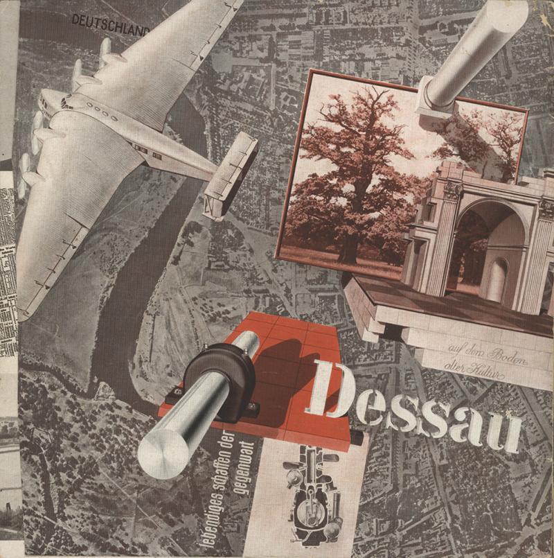 Dessau on the Ground of Old Culture, ed. by Gemeinnütziger Verein Dessau e.V., Abt. Verkehrsbüro, Author: Joost Schmidt, 1931.