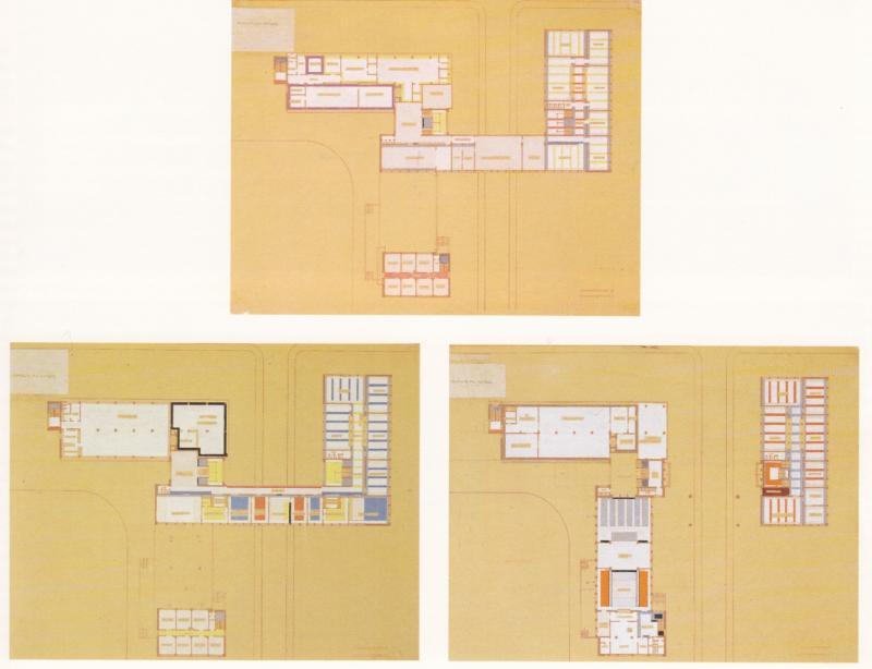 Colour Plan of the Bauhaus, Author: Hinnerk Scheper, 1926.