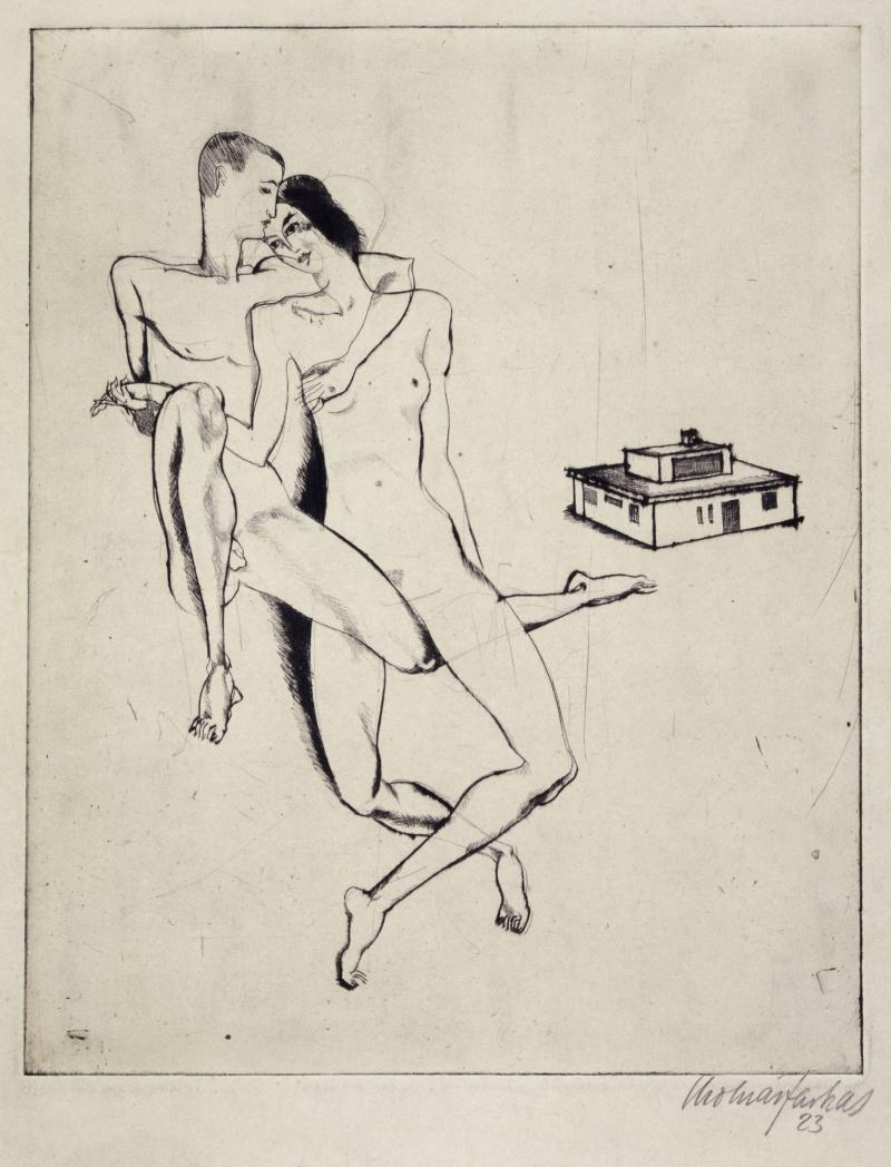 Georg and El Muche and the Haus Am Horn, Author: Farkas Molnár, 1923.