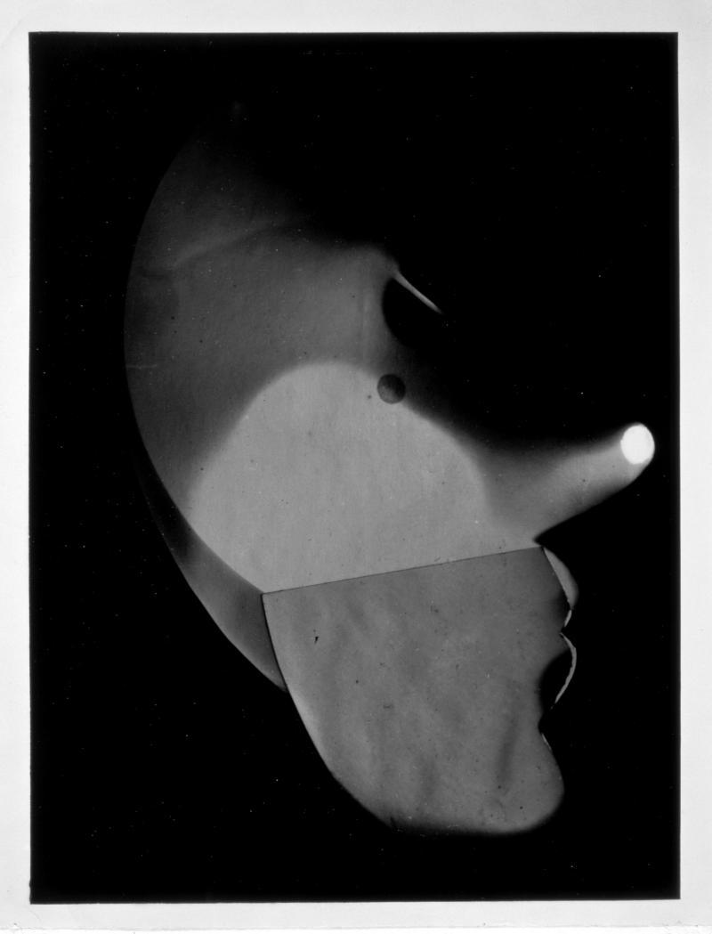 Selbstporträt im Profil, Foto: László Moholy-Nagy, 1926.