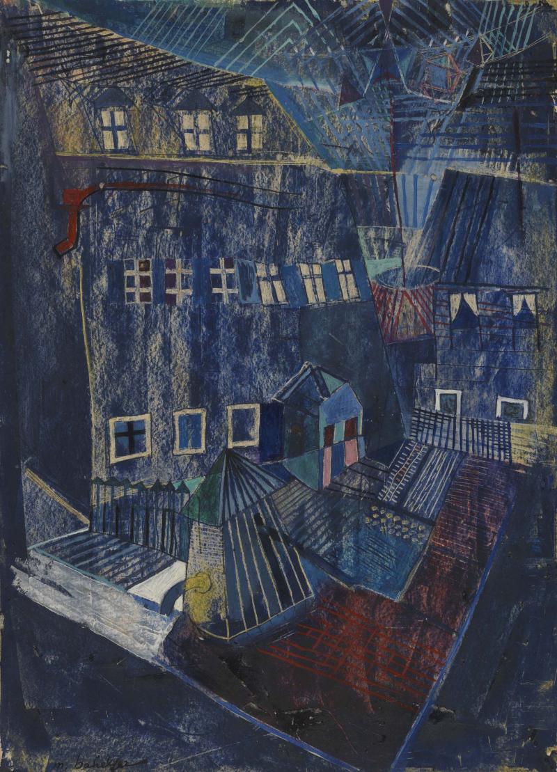 Moses Bahelfer, Blaue Häuser, 1929.