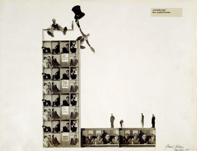 """""""erweiterung des prellerhauses"""", Foto-Collage: Edmund Collein, 1928."""