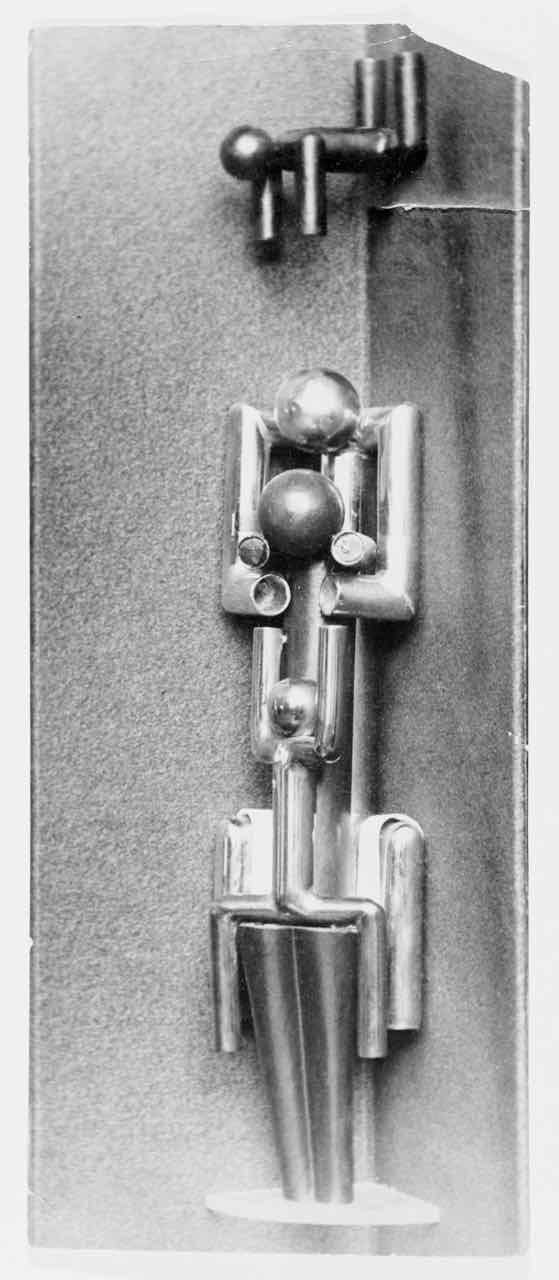 """Anna selbdritt"", Fotografie einer Metallplastik, Autor: Friedl Dicker, Foto: unbekannt, 1921."