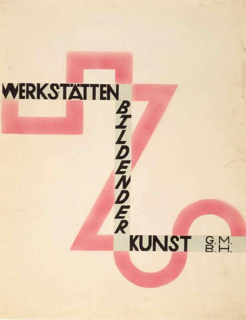 """Entwurf zu einem Plakat """"Werkstätten bildender Kunst G.m.b.H."""", Entwurf: Friedl Dicker (?), o.D."""