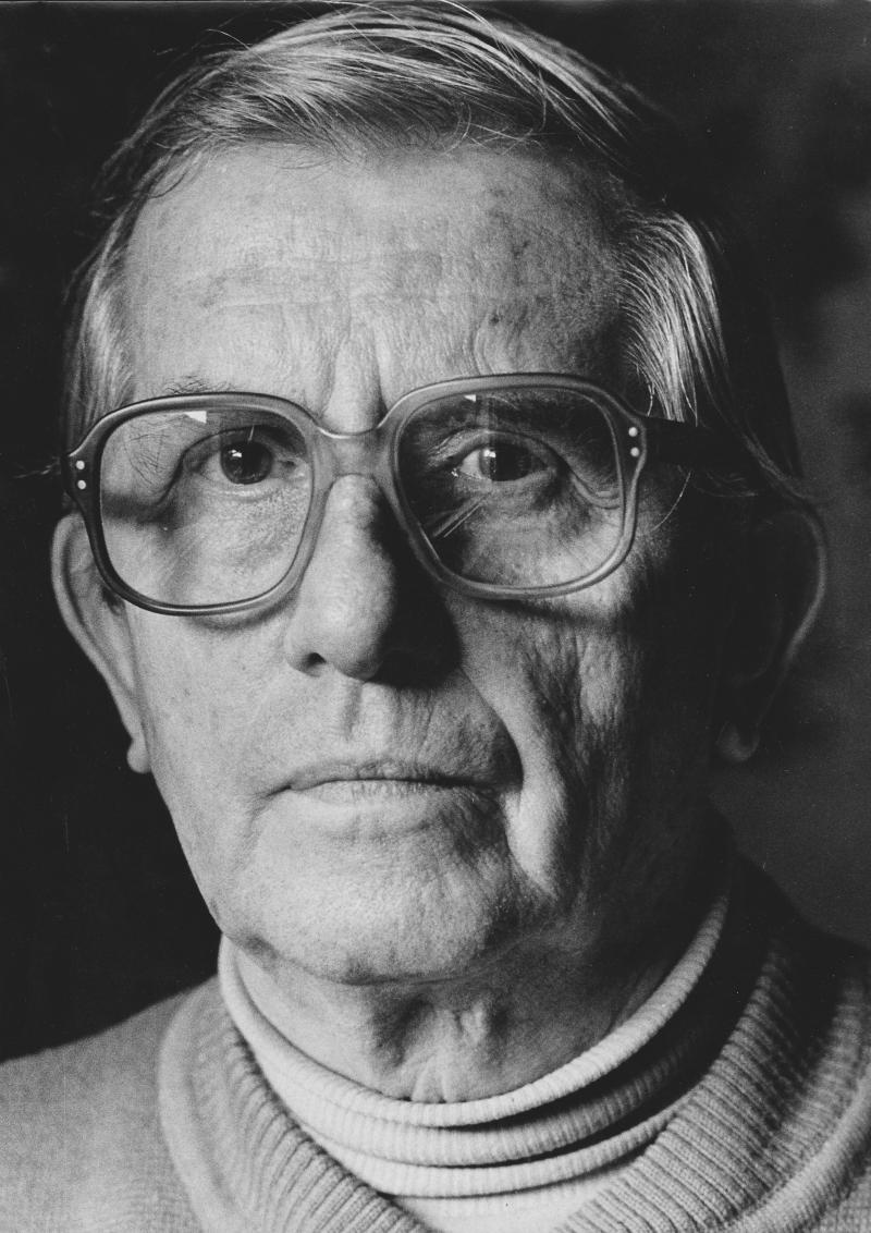 Portrait of Herbert von Arend, around 1980.