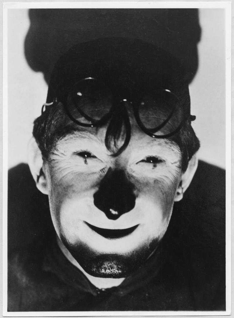 Andor Weininger als Clown, Foto: Irene Bayer, um 1927.