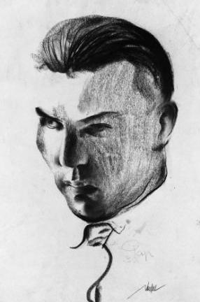 Portrait of Ernst Neufert, Author: Gyula Pap, 1930.