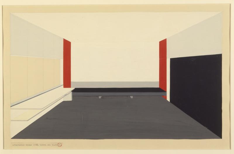 Design for the Moholy-Nagy studio, Sheet 1, Design: Peter Keler, 1924.