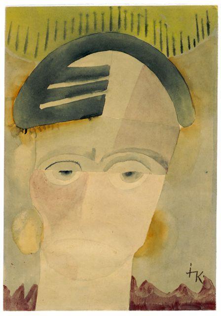 Weiblicher Kopf, Autor: Ida Kerkovius, um 1920.