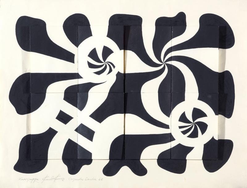 Group of four, black and white, Author: Kurt Kranz, 1968.