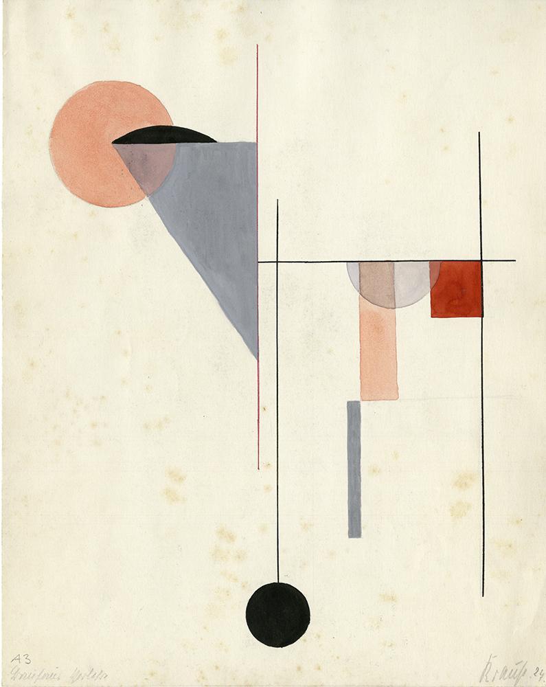 No Title, Composition, Author: Corona Krause, 1924.