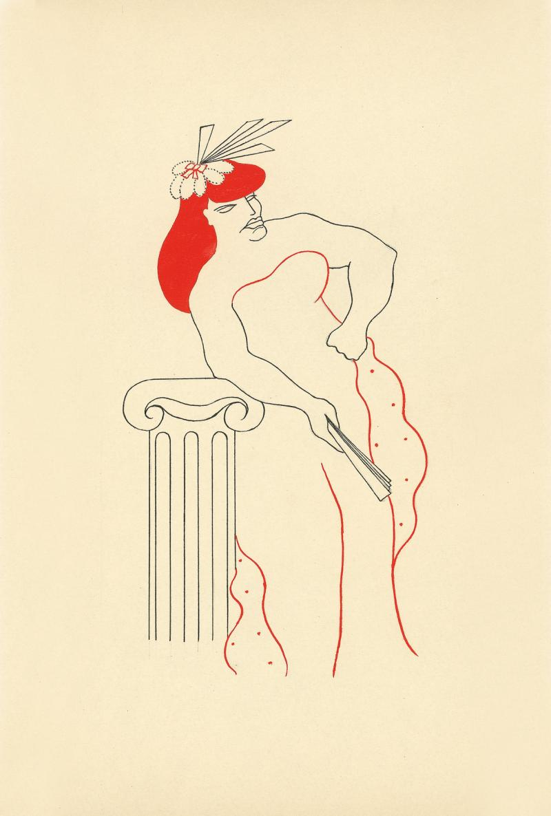 Illustration for 'Amor and Psyche' [Ceres and Juno], Margaret Camilla Leiteritz, 1929.