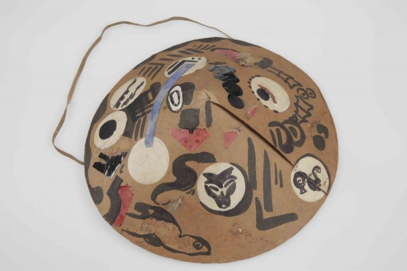 Hat for a Bauhaus festival, Design: Max Nehrling, around 1920, Colored paper collage, Ink on cardboard.