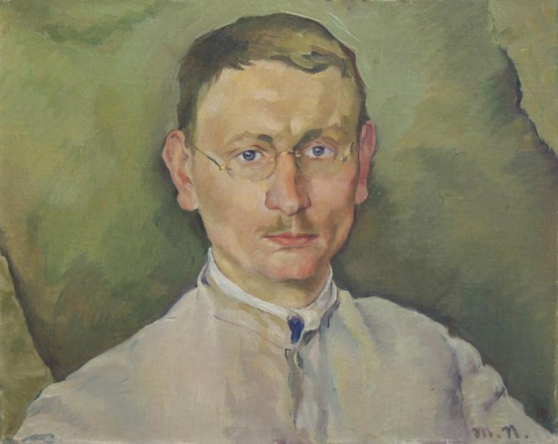 Portrait of Rudolf Riege, Author: Max Nehrling, around 1919, Oil on canvas.