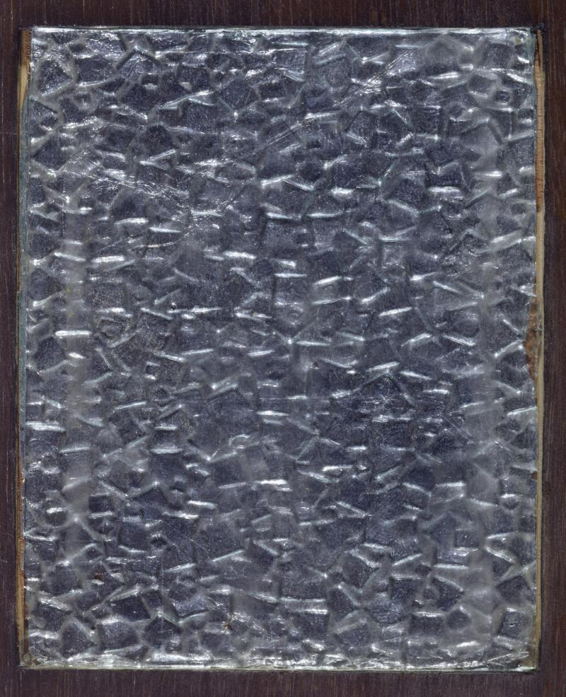 Optical illusion, Tin foil under glass, Preliminary Course by Albers, Author: Heinrich Neuy, Bauhaus Dessau, 1930.