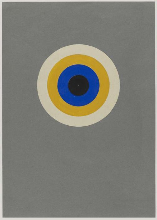 Colour Circle black, blue, yellow and white, Preliminary Course by Kandinsky, Author: Heinrich Neuy, Bauhaus Dessau, 1930.
